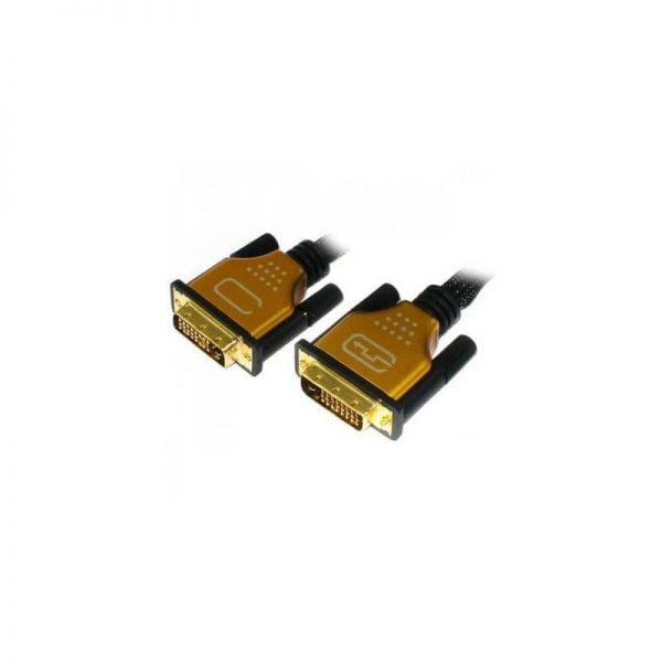 Кабель мультимедийный DVI to DVI 24+1pin, 10.0m Viewcon (VD 100-10м