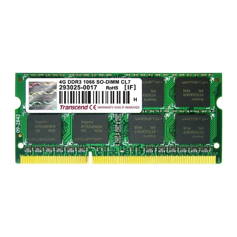 DDR3-SODIMM 4096Mb DDR3 (1066Mhz) pc-8500 Transcend