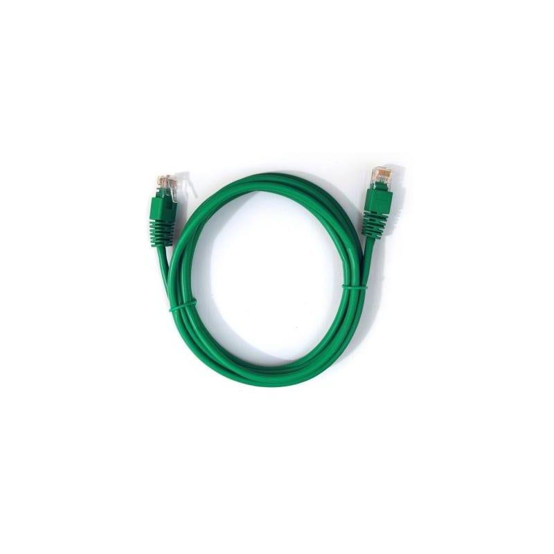 Патч-корд 3м LogicPower UTP, 5е cat., зелений