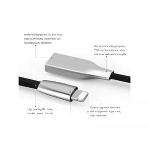 Кабель USB - microUSB, 25 см, плоский
