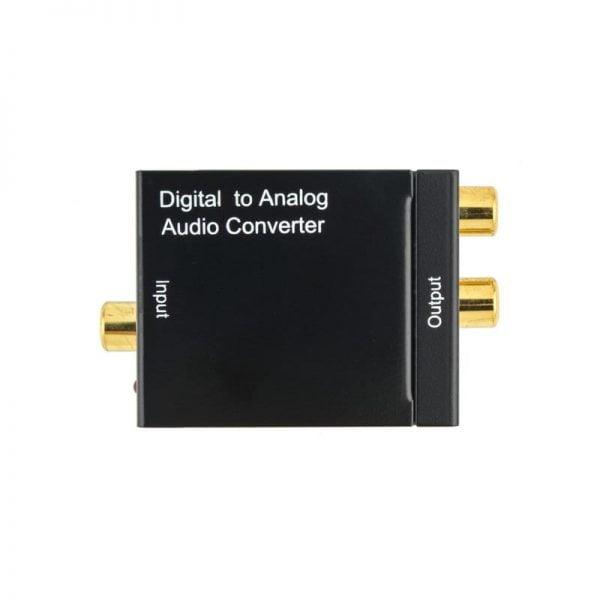 Переходник аудио оптика/коаксиал на тюльпаны 2*RCA, питание USB, TC51800 4