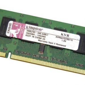 Оперативная память для ноутбука SODIMM DDR2 1GB 667MHz pc-5300 Kingston (KVR667D2S5/1G)