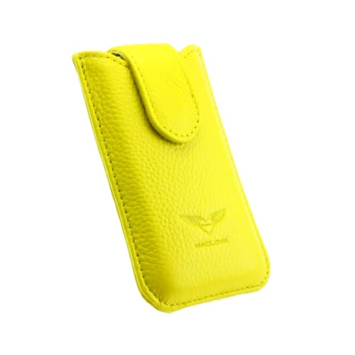 Чехол для iPhone 4/4S MacLove Genuine Leather Case Baron Yellow (ML25565) 1