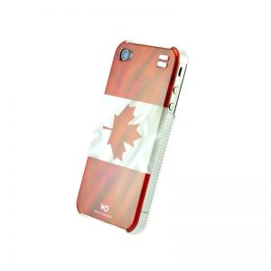 Чехол с кристаллами для iPhone 4/4S White Diamonds Flag Canada (1110FLA08)