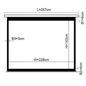 Экран моторизированный 228*143 Lumi PSAX106 (16:10)
