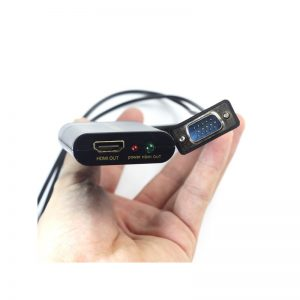 Переходник-конвертер VGA to HDMI, аудио 3,5мм, USB питание, Aixxco, AYC-VH01