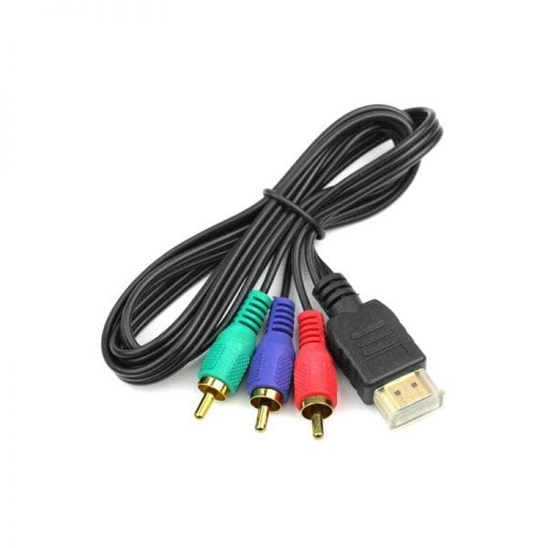 Кабель-переходник HDMI to RCA, 1 метр, KBT001740