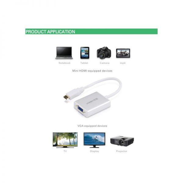 Переходник-конвертер Mini-HDMI to VGA Ugreen