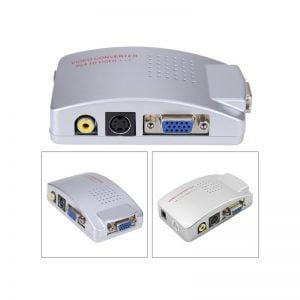 Переходник-конвертер VGA to AV RCA, S-Video, активный
