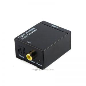 Переходник аудио оптика/коаксиал to 2*RCA, блок питания 220В, ZC28001