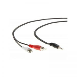 Кабель мультимедійний Jack 3.5mm male to 2xRCA 1.5m Vinga (3.5STM2RCAM01-1.5) Jack 3.5 mm, RCA x 2,