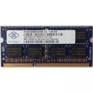 Память оперативная для ноутбука 4GB SODIMM PC3-10600 DDR3 1333MHz Nanya NT4GC64B8HG0NS-CG