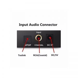 Переходник аудио оптика/коаксиал to 2*RCA + 3,5mm, питание USB