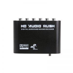 Аудио декодер цифровой, оптика SPDIF/coaxial to RCA 5.1, 147095