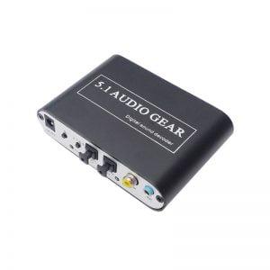 Аудио декодер цифровой, оптика SPDIF/coaxial to 5.1 3.5mm*3, (C50710C)