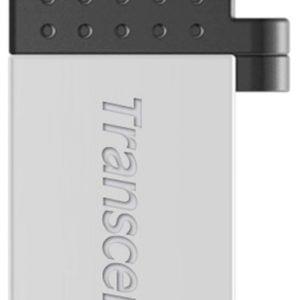 USB флеш накопитель Transcend 32G On-The-Go Silver USB 2.0 (TS32GJF380S)